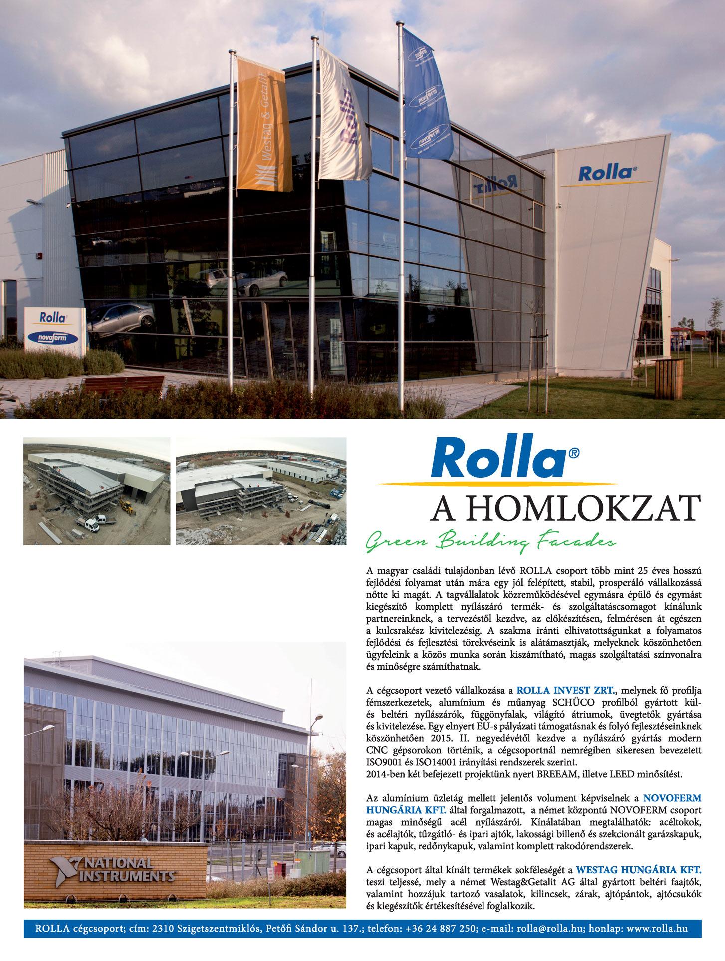 Rolla cikk az Octogon Építészeti Magazinban