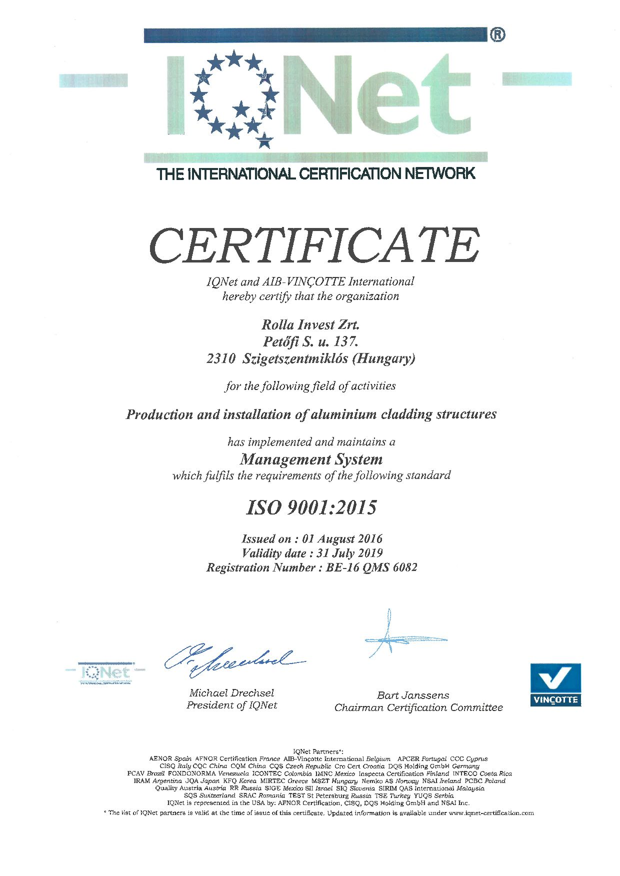 IQ Net - ISO 9001:2015 (English) (0. oldal)