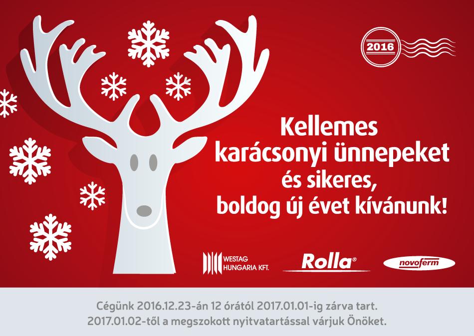 Kellemes karácsonyi ünnepeket és sikeres, boldog új évet kívánunk! - Rolla Metal Zrt.