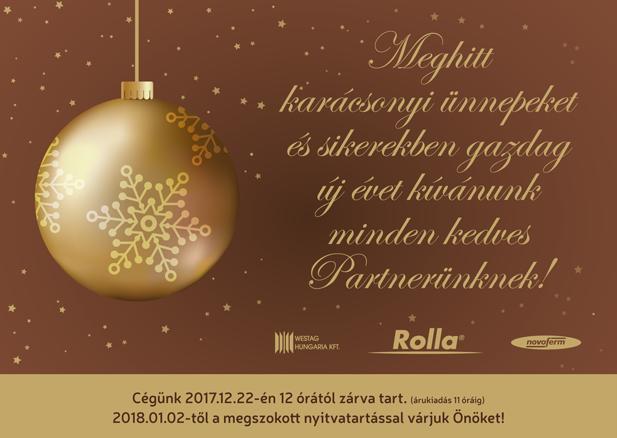 Meghitt karácsonyi ünnepeket és sikerekben gazdag új évet kívánunk minden kedves Partnerünknek! - Novoferm Hungária Kft.